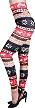 IRELIA Winter Womens Warm Printed Fleece Lined Leggings High Waist Tights - Regular and Plus Size