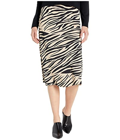 Sanctuary Everyday Midi Skirt (Zebra) Women