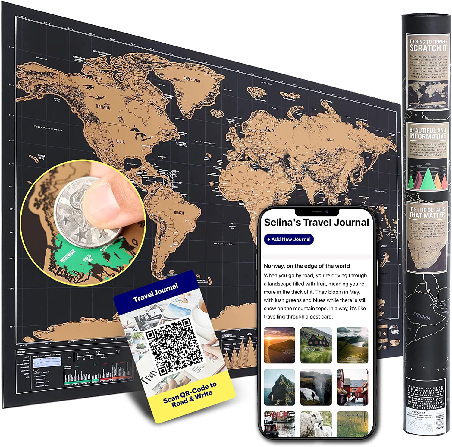 XL Scratch Off World Map Poster Travel with Journal Digital Ultra-Cheap Deals for Free shipping New