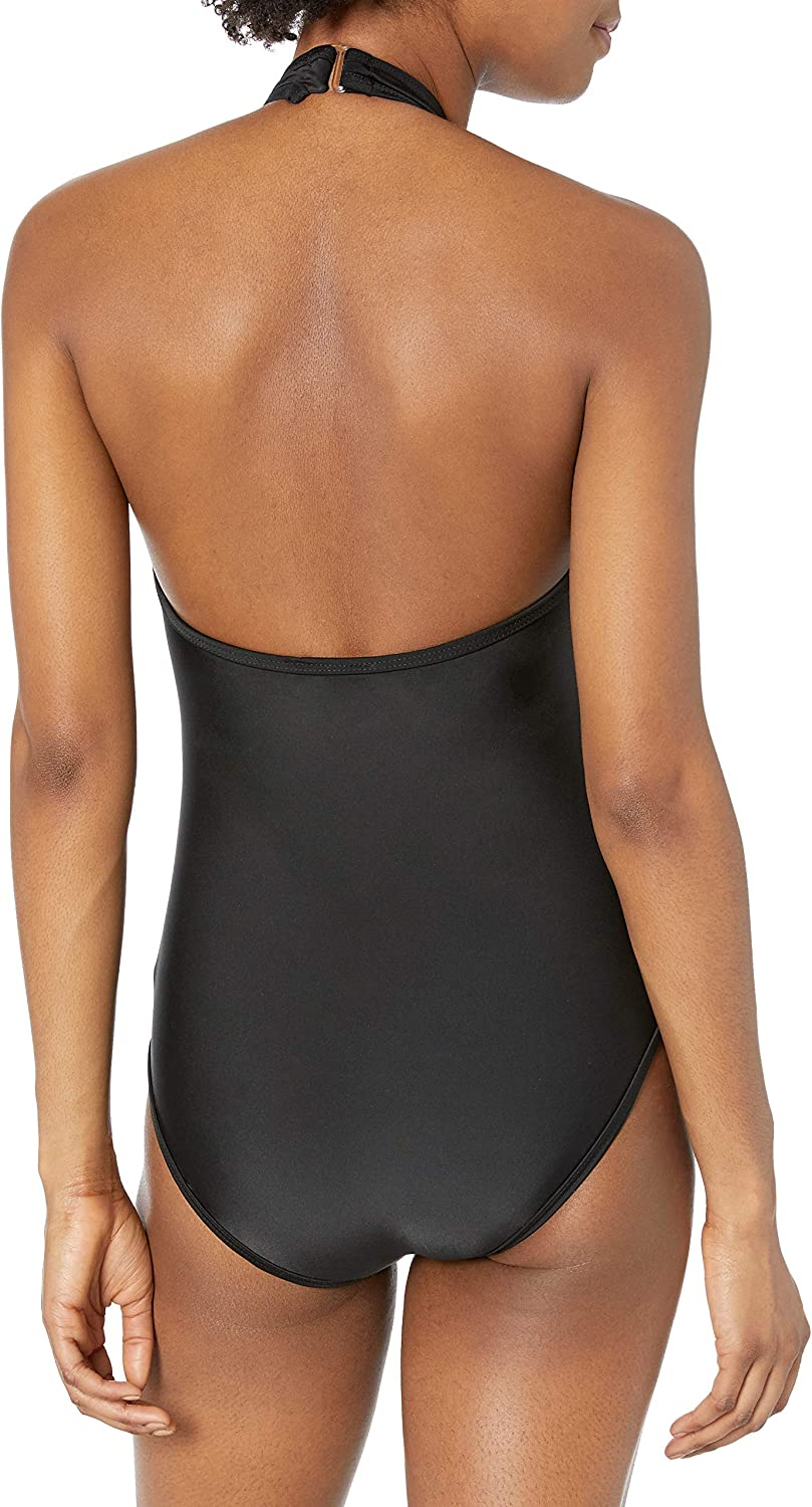 Seafolly Women's Wild at Heart V-Neck One Piece Swimsuit Wild at Heart Black