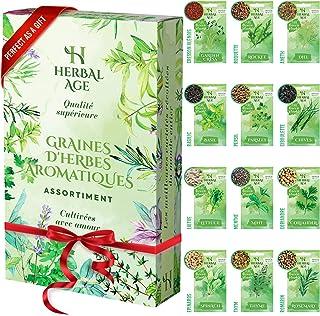 Cultivez votre propre jardin d'herbes aromatiques –12 variétés d'herbes aromatiques,8700 graines – Kit de plantation d'her...