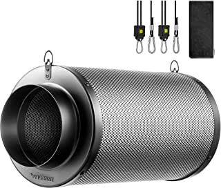 VIVOSUN 4 Inch Air Carbon Filter Odor Control with Australia Virgin Charcoal for Inline Fan, Grow Tent Odor Scrubber, Pre-...