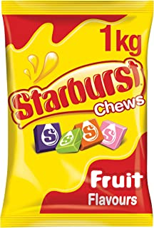 Starburst Original Fruit Chews Lollies, 1kg Party Size Bag
