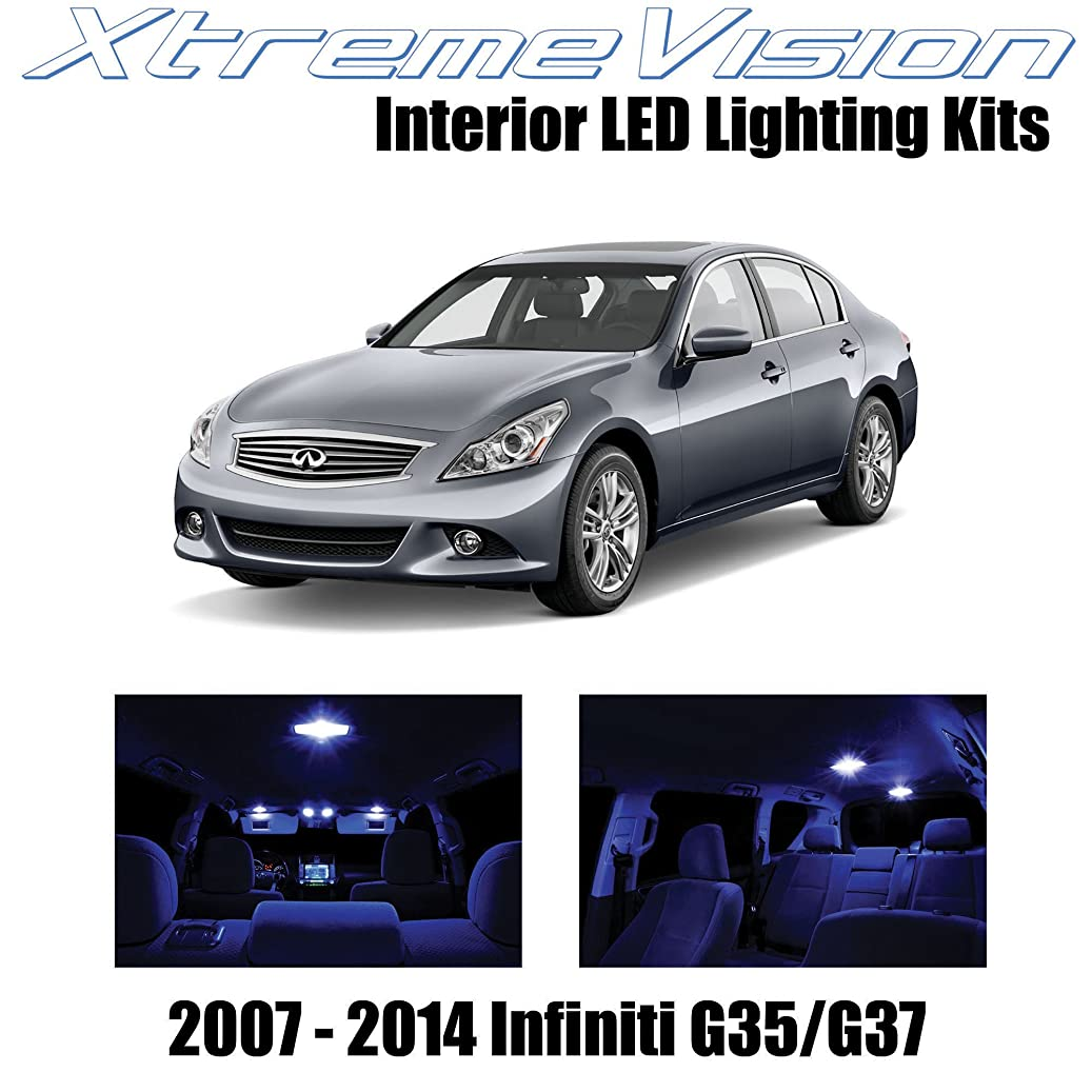 XtremeVision Interior LED for Infiniti G35 G37 Sedan 2007-2014 (10 Pieces) Blue Interior LED Kit + Installation Tool