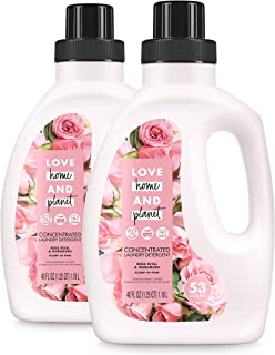 Sponsored Ad - Love Home and Planet Concentrated Laundry Detergent Rose Petal & Murumuru 40 Fl Oz (Pack of 2)