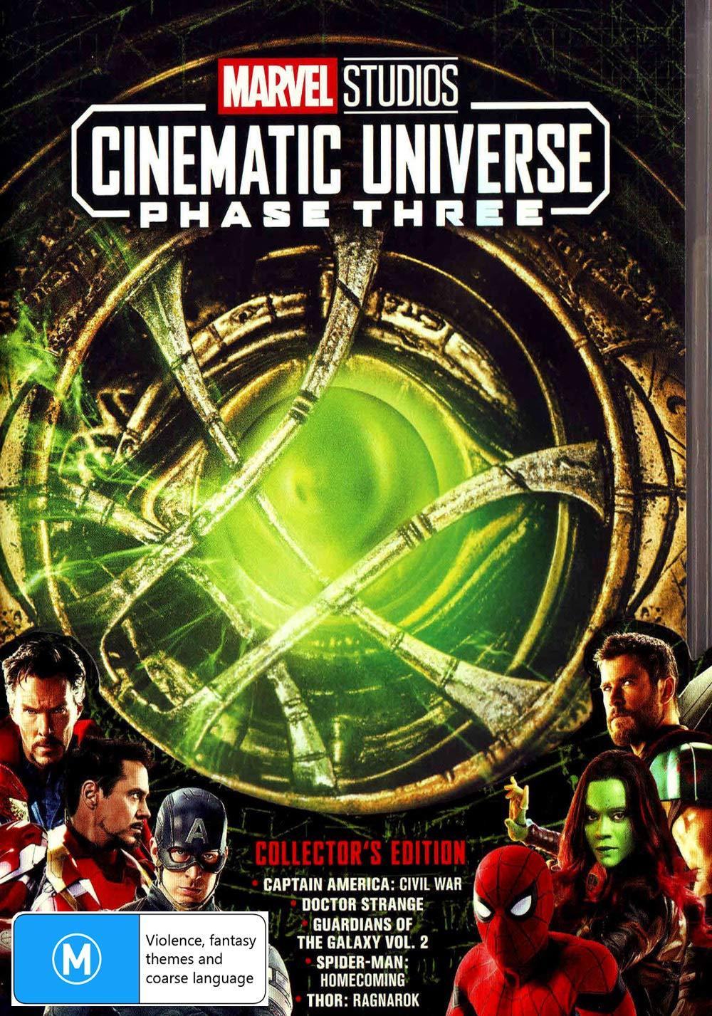 Marvel Phase 3: Part 1   5 Marvel Movies   NON-USA Format Region 4 Import - Australia