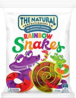 TNCC The Natural Confectionary Co. Rainbow Snakes Jelly Candy 220 g