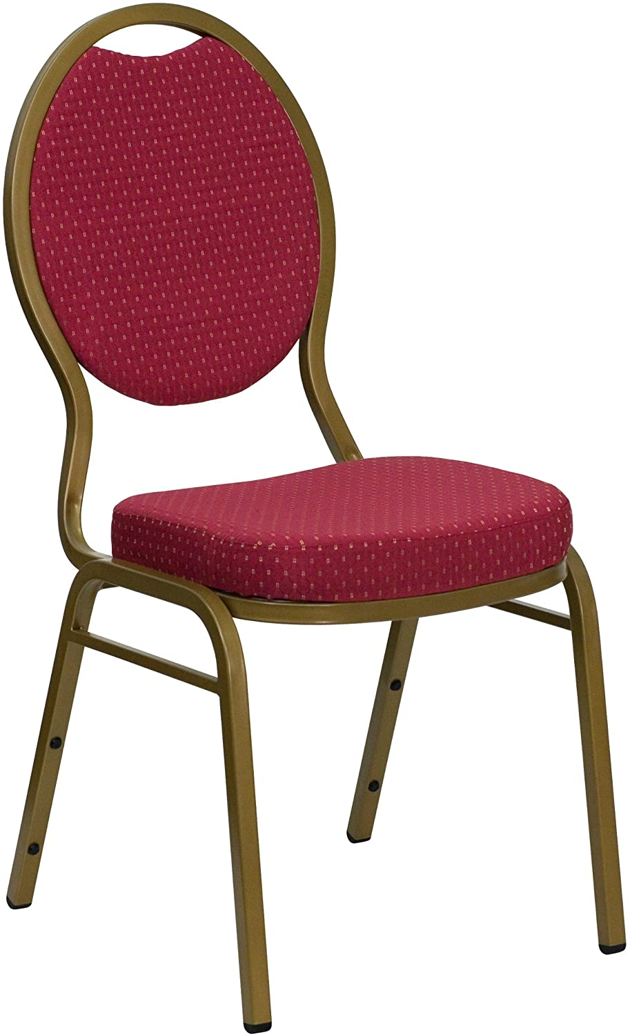 MFO Ranking TOP1 Teardrop New Orleans Mall Back Stacking Banquet with Burgundy Chair Patterned
