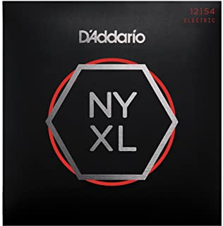D'Addario NYXL1254 Nickel Plated Electric Guitar Strings,Heavy,12-54 – High Carbon Steel Alloy for Unprecedented Strength – Ideal Combination of Playability and Electric Tone