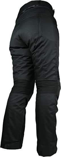 Heyberry Damen Motorrad Hose Motorradhose Textil Schwarz Gr Xl 42 Auto