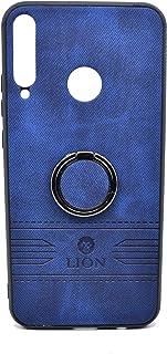 حافظة حماية خلفية فاخرة من الجلد مع حامل لهاتف هواوي واي 7 بي من ليون (ازرق)
