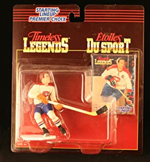 JEAN BELIVEAU / MONTREAL CANADIENS 1995 Timeless Legends NHL Starting Lineup & Collector Trading Card * CANADA EXCLUSIVE SERIES *