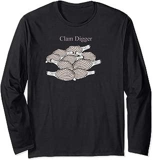 Clam Digger Shellfish Harvester Steamers Long Sleeve T-Shirt