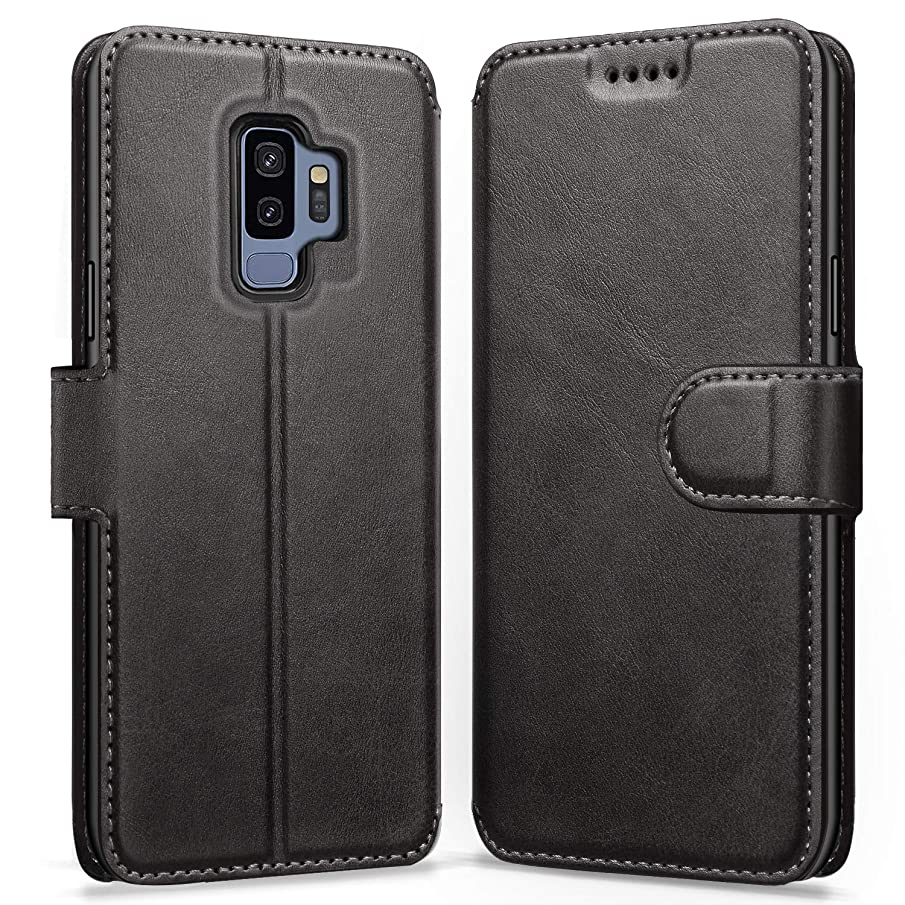 ykooe Case for Samsung Galaxy S9 Plus, Leather Wallet Flip Case Galaxy S9 Plus Phone Case with Card Slots Protective Cover for Samsung S9 Plus