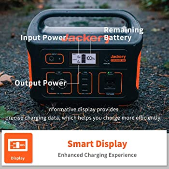 Jackery Portable Power Station Explorer 500, 518Wh Outdoor Solar Generator Mobile Lithium Battery Pack with 110V/500W...