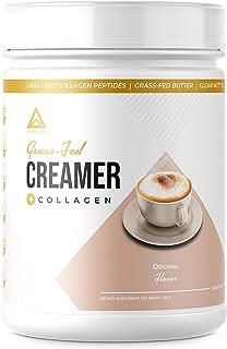 New!! Grass-Fed Keto Creamer Plus Protein - Grass Fed Butter - Grass Fed Collagen - Grass Fed Whey - Pure C8 MCT Oil - Perfect Keto Bomb BPC Creamer - Ketogenic Supplement Ketone Support (Original)