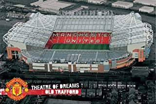 England Manchester United Theatre of Dreams (Old Trafford) Football Soccer Field Sports Fan Poster Print 24x36
