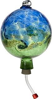 Kitras Van Glow Hummingbird Feeder Glass Ornament, Blue/Green