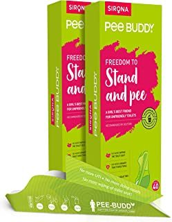 PeeBuddy Disposable Female Urination Device For Women, 2 x 40 Funnels