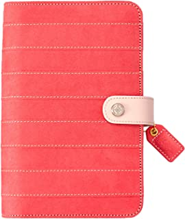 Webster's Pages Pink Stitched Stripe Binder (WPCP001-PSS)
