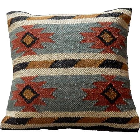 2 PC Rustic Cushion Cover Wool Jute Pillowcase Vintage Sofa Sham Bedding Pillow