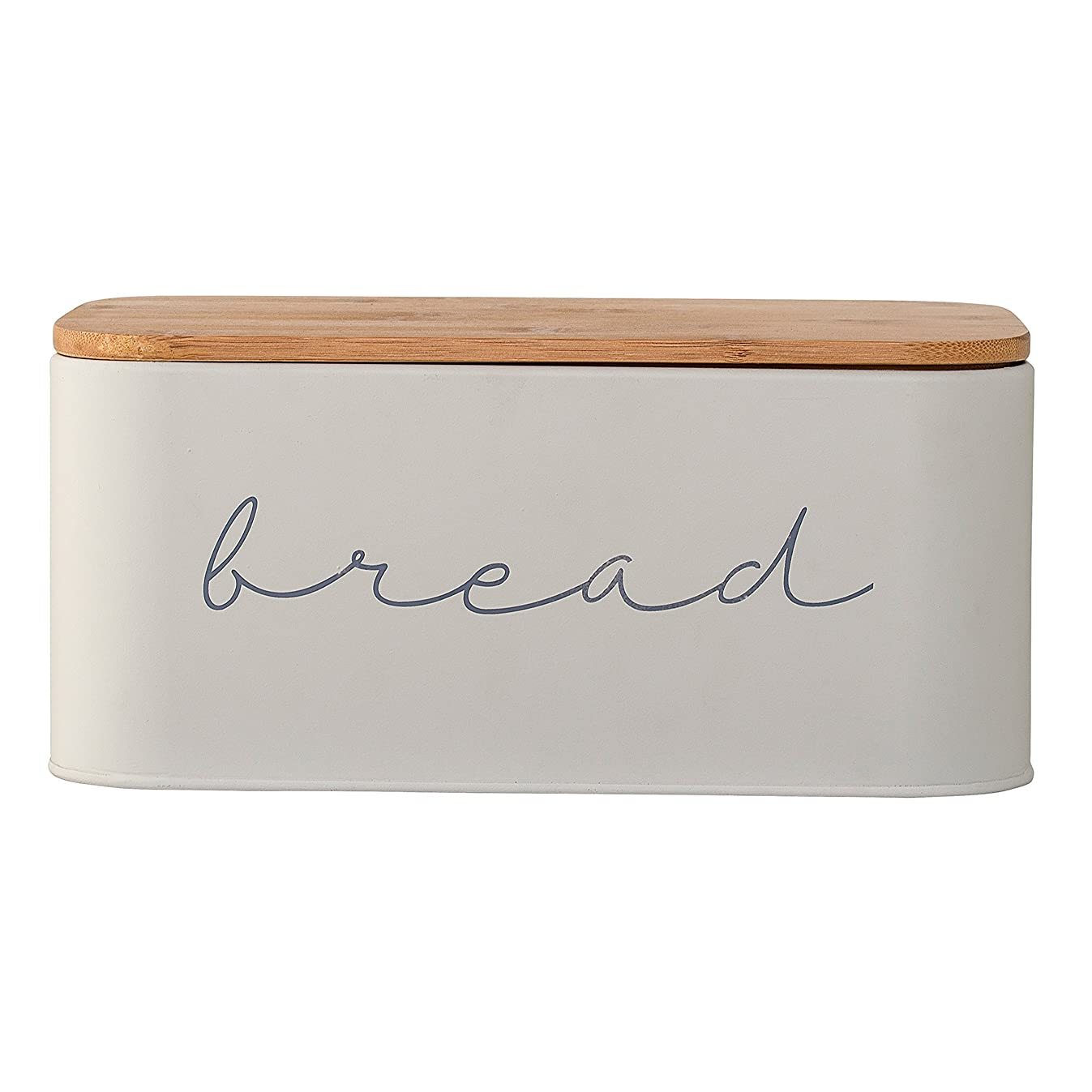 Bloomingville A97306650 Metal Bread Bin With Bamboo Lid, 11.75