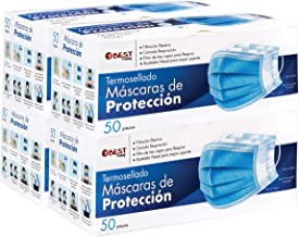 Best Trading Cubrebocas, Tapabocas Azul Termosellado con 3 Capas de Protección, Mascarilla Desechable (200 Piezas)