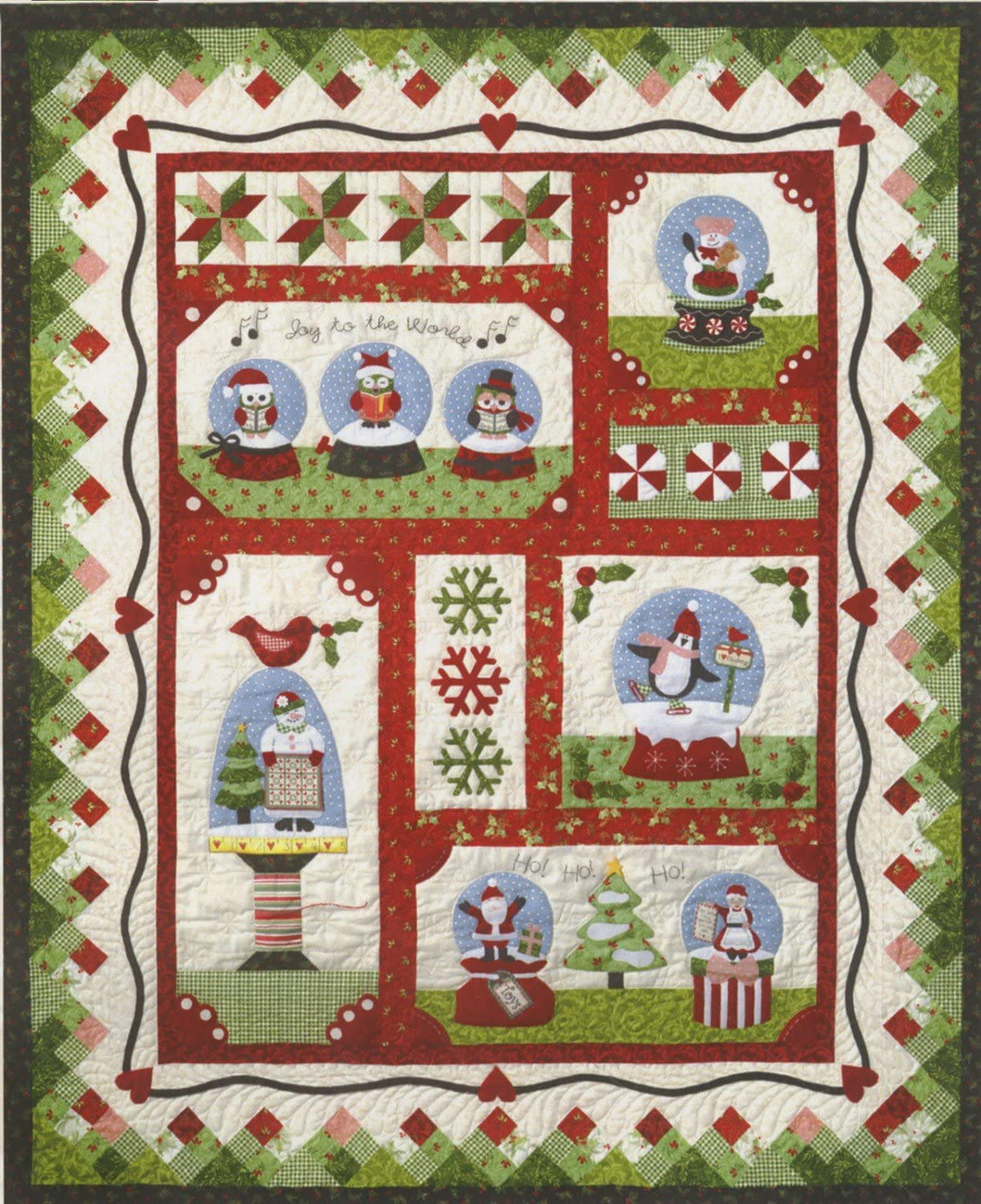 Snow safety Globe Village Christmas Holiday The Company Pattern S Tulsa Mall Quilt