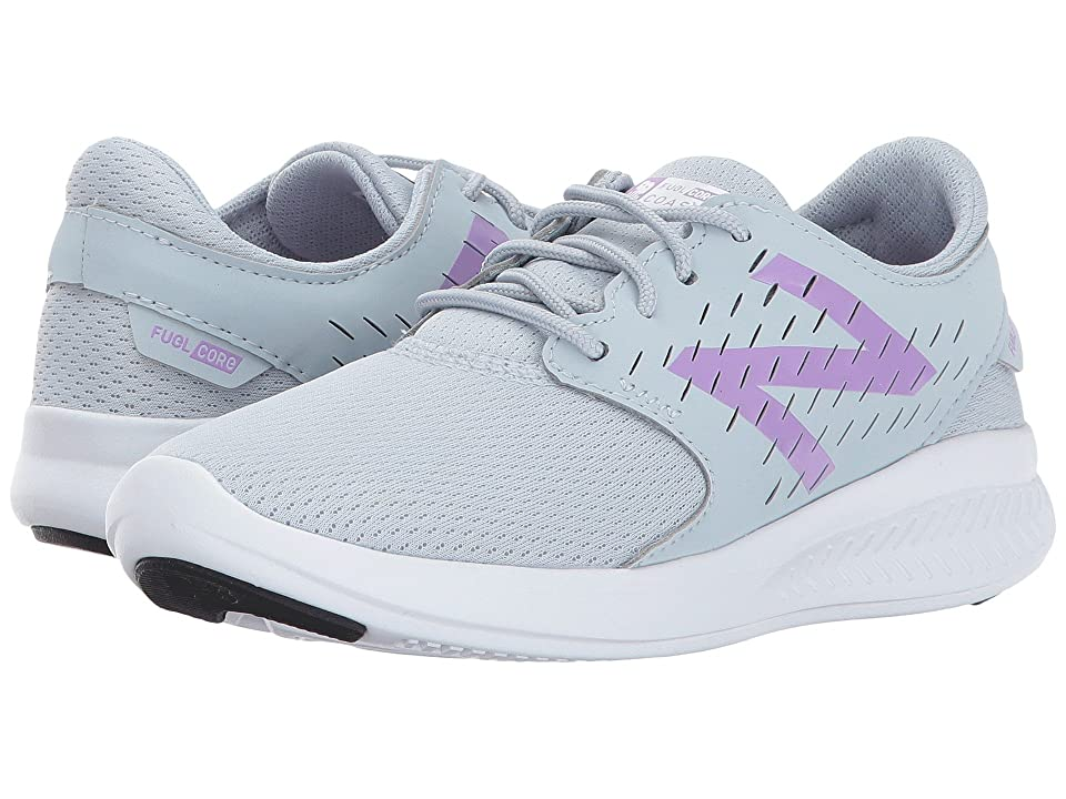 New Balance Kids FuelCore Coast v3 (Little Kid/Big Kid) (Grey/Purple) Girls Shoes