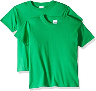 Gildan Unisex-Child G5000BP2 Heavy Cotton Youth T-Shirt, 2-Pack Short Sleeve T-Shirt