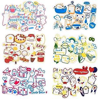 270 Sheets Scrapbook Stickers Cute Little Bear Stickers Journal Stickers Aesthetic Stickers Decoration Sticker Cartoon Dec...