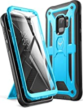 YOUMAKER Galaxy S9 Case, Heavy Duty Protection Kickstand with Built-in Screen Protector Shockproof Case Cover for Samsung Galaxy S9 5.8 inch (2018 Release) - Blue
