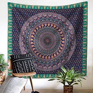 LYSOZ Mandala Tapestry Elephant Print Mandala Bohemian Home Decor (Color : B, Size : 200X150)