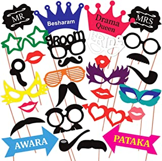 WOBBOX Photo Booth Party Props - 31 Piece DIY Kit