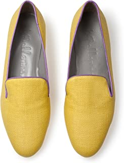 preferente B4ballerinas - Zapatillas de Estar por por por casa de Otra Piel para Mujer Amarillo Amarillo  selección larga