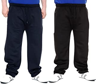 Brooklyn Big Size Jogging Pants Relaxed Tracksuit Bottoms Plus Fit 2XL-8XL Navy/Black Zip Pockets