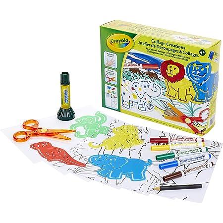 Crayola - Atelier de Découpages & Collages - Loisir créatif - Kits d'activités - à partir de 4 ans - Jeu de dessin et coloriage