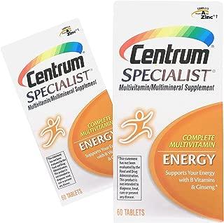 (2 Pack) Centrum Specialist Energy, Multivitamin Tablets, 60-Ct ea.