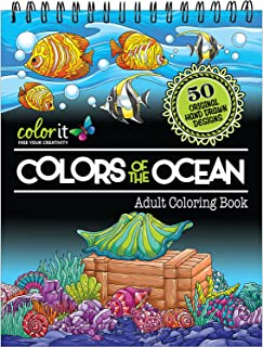Colors of the Ocean Adult Coloring Book