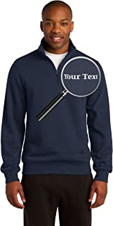 Custom Embroidered Quarter Zip Sweatshirts - Personalized Embroidery Sweaters