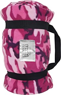 ROLLEE POLLEE Preschool and Daycare Napping Blanket with Pillow, Super Soft, Fits Most Mats and Cots (Pink Camo)