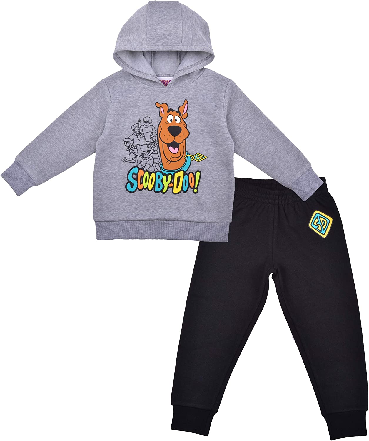 2 Pack Scooby Doo Hoodie and Jogger Pant Set, Comfy...