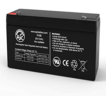 Power Sonic PS-6100 6V 12AH Battery Replaces 10Ah Enduring 3FM10 T2 3-FM-10 T2-2 Pack