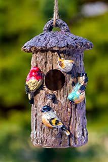 Oak Tree Decorative Hand-Painted Bird House