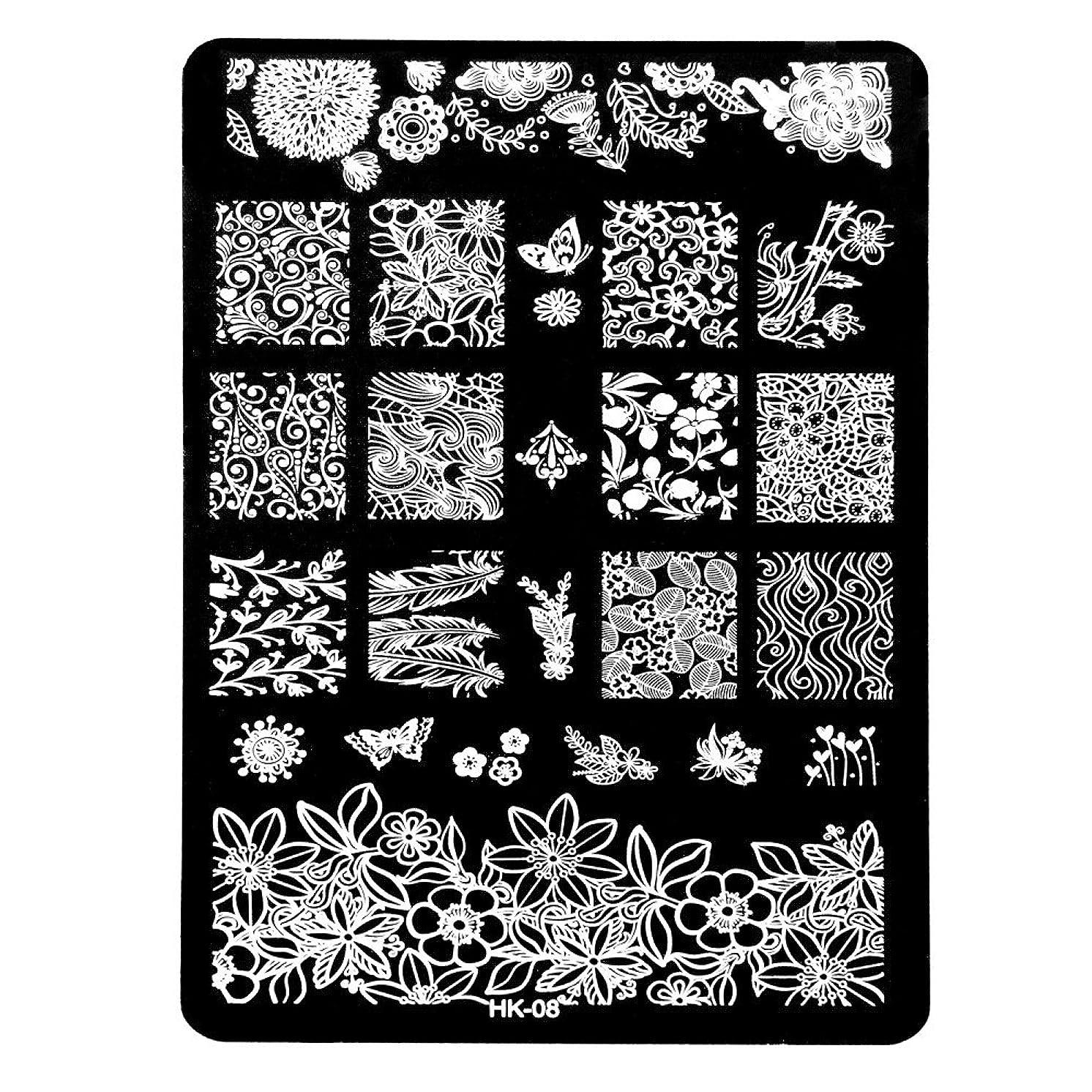 削除するリンクバンジョー[ルテンズ] スタンピングプレートセット 花柄 ネイルプレート ネイルアートツール ネイルプレート ネイルスタンパー ネイルスタンプ スタンプネイル ネイルデザイン用品