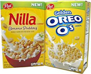 Variety Pack - Post Cereal (1 lb 3 oz) - Golden Oreo Os, Nilla Banana Pudding