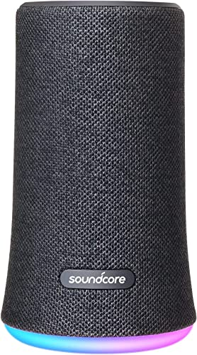 high quality Soundcore Flare Wireless online Speaker new arrival by Anker, Waterproof Party Speaker with 360° Sound, Enhanced Bass & Ambient LED Light, IP67 Waterproof and 12-Hour Battery Life-Black online sale