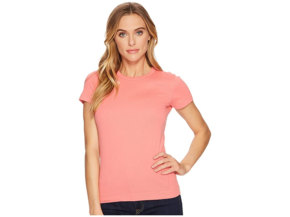 Three Dots Kennedy Short Sleeve Crew (Watermelon) Women