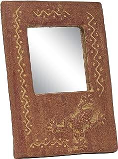 Tumia LAC - Espejo de Rana Hecho a Mano (Comercio Justo y Pintado a Mano en México, 35 cm de Alto)