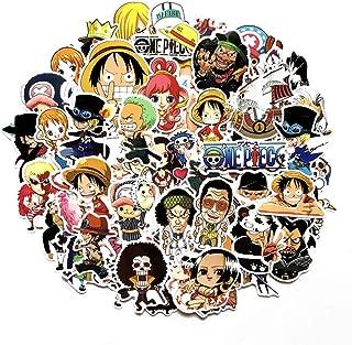 Meet Holiday One Piece Anime Cartoon Laptop Stickers Waterproof Skateboard Pad MacBook Car Snowboard Bicycle Luggage Decor (60pcs)